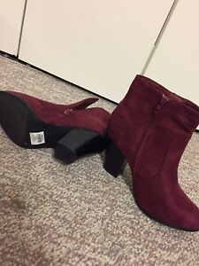 Red high-heel boots