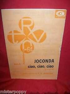 MANGERI-Joconda-Ciao-ciao-ciao-Sigla-RADIOTELEFORTUNA-64-TV-OST-1964-CAM