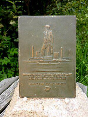 "Old Brass Wall Picture Rheinpreussen "" Ag Mining Chemicals Hanson"