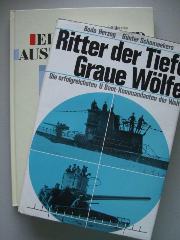 2 Bücher Ritter der Tiefe Graue Wölfe U-Boot-Kommandanten U-Boot Wilhelm Bauer