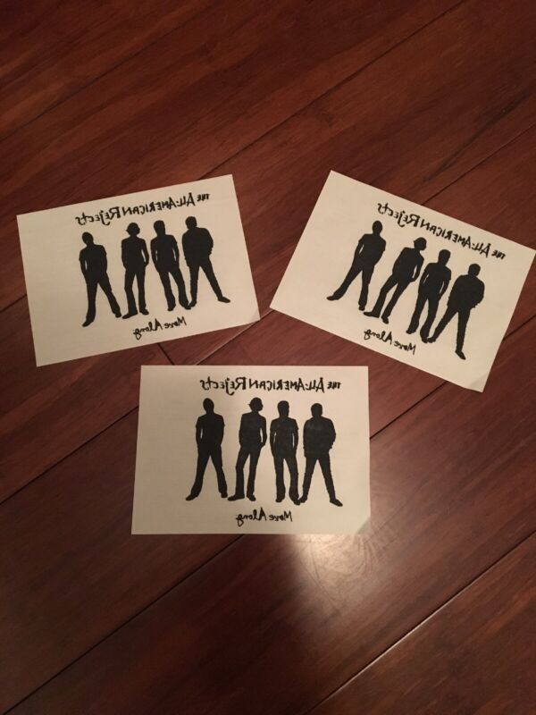 The All-American Rejects MOVE ALONG Iron-On Logo Set Of 3
