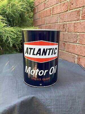 vintage Atlantic quart motor oil can