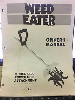 WEED EATER OWNER'S MANUAL 5500 POWER HOE ATTACHMENT