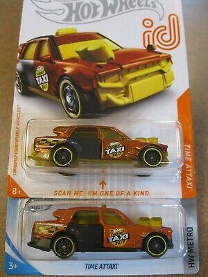 2020 Hot Wheels TIME ATTAXI id mainline case D E F CHASE rare treasure taxi hunt