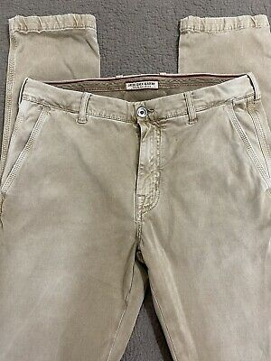 Jacob Cohen Academy Mens Khaki Pants Size 36 x 36 Hand Made in Italy