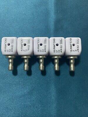 5 Cerec Ivoclar Emax Implant A16 L- Lt C2 Blocks Screw Retained 5 Blocks