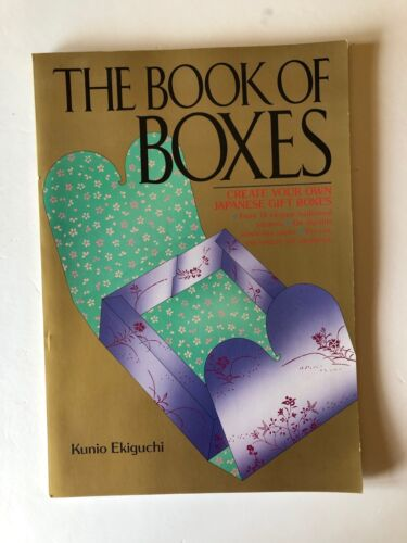 Book of Boxes Kunio Ekiguchi Japanese Gift Boxes Creation 14 Patterns Pre-Cut