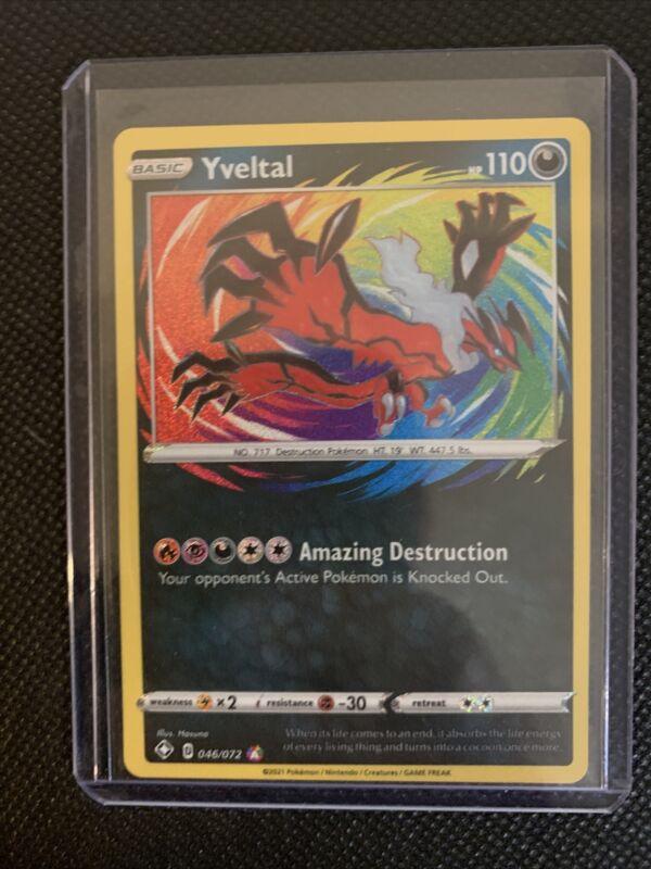Pokémon Tcg Yveltal Shining Fates 046/072 Holo Amazing Rare