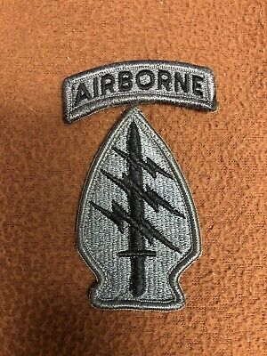 ACU Special Forces Unit Patch Velcro Backing