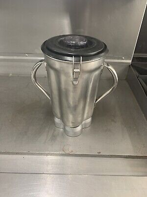 Waring Cb15 Stainless Steel 1 Gallon Container With Lid And Blade
