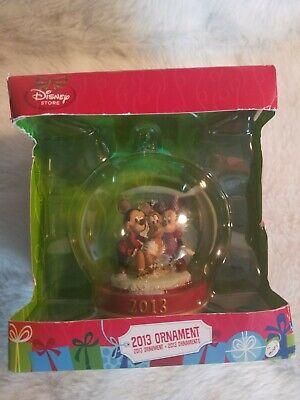 Disney Store 2013 Christmas Ornament Mickey Mouse Minnie Pluto Snow Globe C