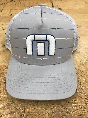 1e01695b310 Gray TRAVIS MATHEW B-BAHAMAS golf HAT The Original FLEXFIT baseball cap