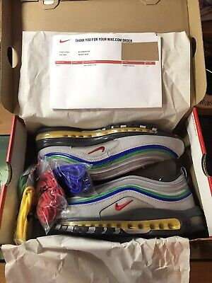 Nike Air Max 97 QS Nintendo 64 Silver Green/Blue 10.5UK 11.5US DS...