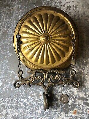 Vintage Ornate Victorian retractable spring loaded kerosene coal oil lamp hanger