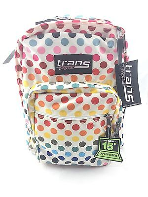 """Trans By JanSport 17"""" SuperMax Backpack - Multi Rainbow Dot"""