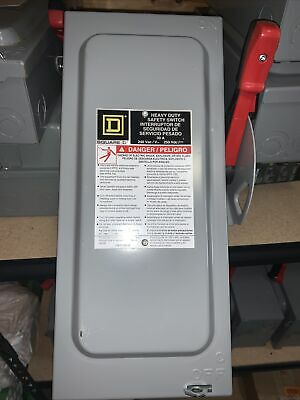 Square D H221n 30a 240v Fusible Disconnect
