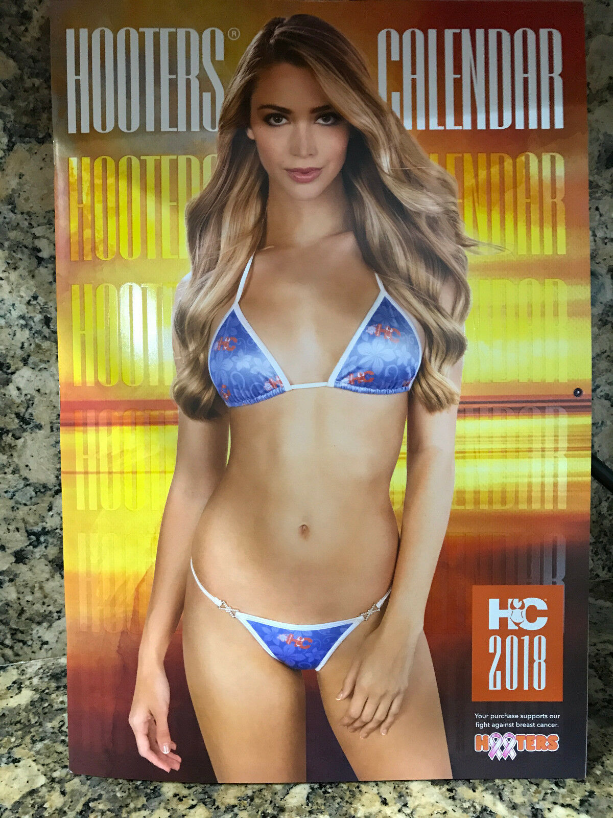 2018 HOOTERS CALENDAR SHIP WORLDWIDE FREE POSTER & COUPONS