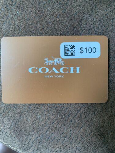 COACH Giftcard 100 Value - Unused - $95.00