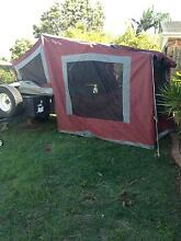 Off Road Camel Group Beachcomber camper trailer - maroon canvas Springfield Ipswich City Preview