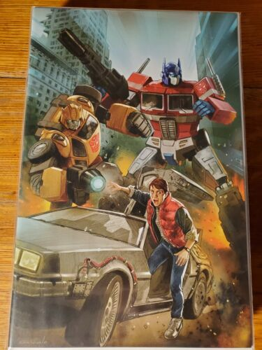 Transformers/Back to the Future #1 Virgin Variant Diego Galindo Art NM