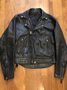 Vintage Langlitz Leathers Goatskin Columbia Jacket Size 40 Custom Motorcycle