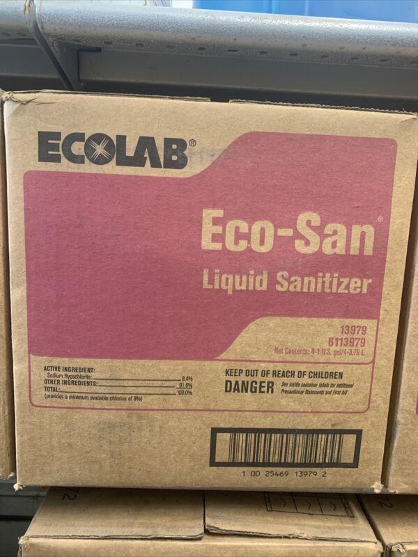 CASE 4 ECOLAB Eco-San Liquid Surface Sanitizer 13979 WAREWASHING ECOSAN 6113979