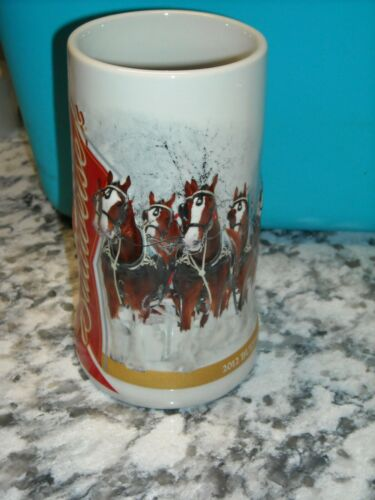 2012 Budweiser Anheuser Busch Annual Holiday Christmas Stein Winter Wonderland