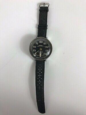 Vintage 60s Swiss Tropic Dive Watch Band Rubber 19mm w Scuba Calypso Gauge