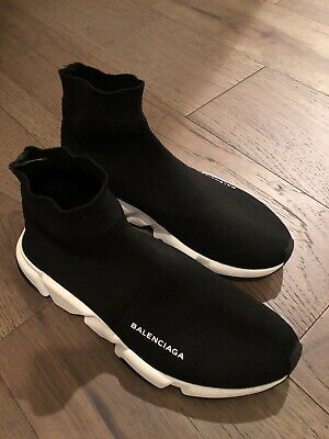 Balenciaga Oreo Men's Speed Trainer Knit Sock Casual Shoes Size 8.5 / 42