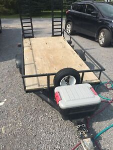 4 x 8 utility trailer with ramps