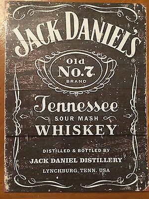 Tin Sign Vintage Jack Daniels Tennessee Whiskey