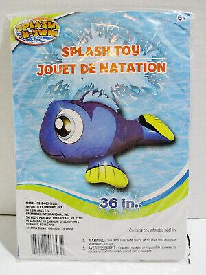 "Blue angel fish Inflatable and FISH Pool Toy Float 36"" Splash n Swim"