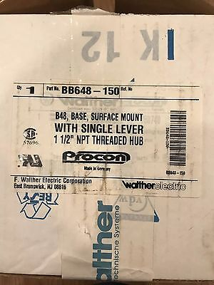 Walther Bb648 150 B48 Base Surface Mount 1 1 2 Mpt Threaded Hub