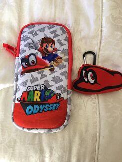 Super Mario Odyssey Console And Games case