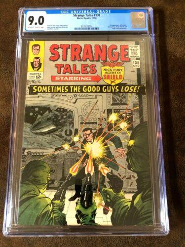 STRANGE TALES #138, CGC 9.0 (VF/NM),  First Eternity, New CGC Case!