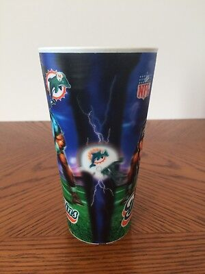 4 New NFL Licensed Collectible Miami Dolphins Football Souvenir - Miami Dolphins Cups