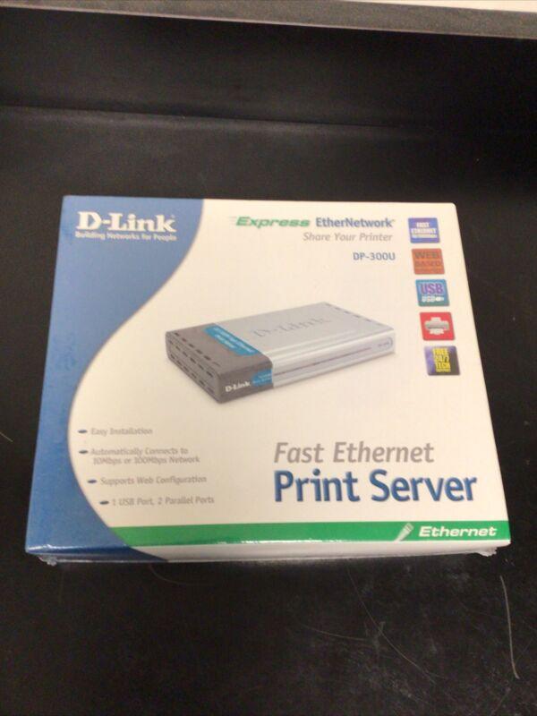 D-Link Express EtherNetwork DP-300U Fast Ethernet Print Server