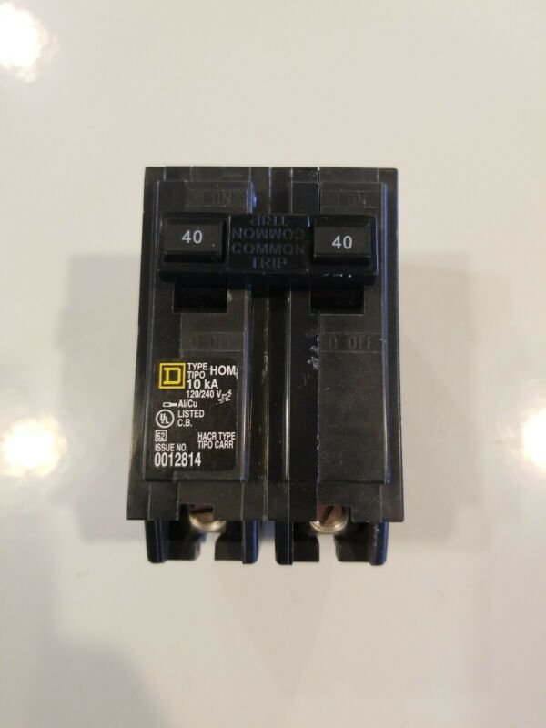 NEW SquareD Homeline CSED 40-Amp 2-Pole 120/240 Volt Circuit-Breaker Load-Switch