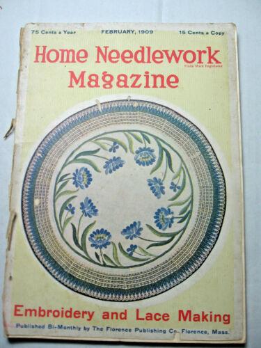 February 1909 Home Needlework Magazine