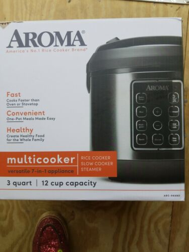 Aroma Rice Cooker Multicooker Food Steamer 8cups Digital Coo