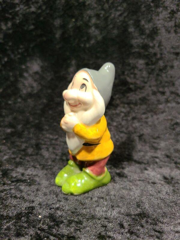 ⭐ Vintage BASHFUL Snow White Dwarf Walt Disney Productions Japan Ceramic Figure