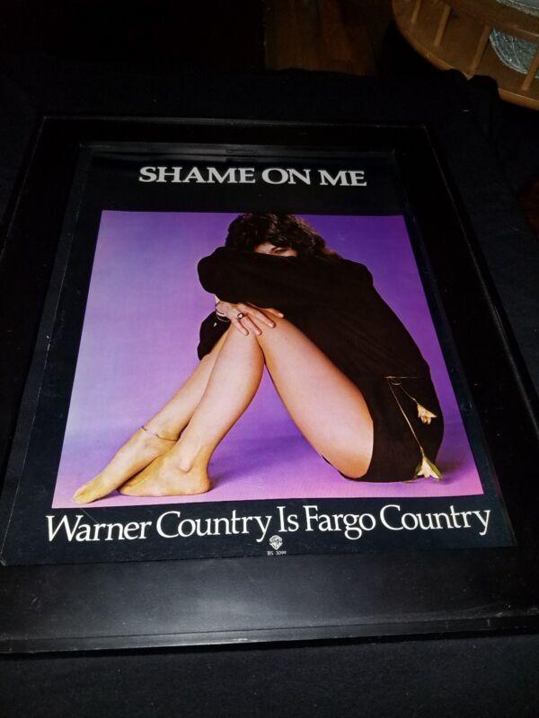 Donna Fargo Shame On Me Rare Original Promo Poster Ad Framed!