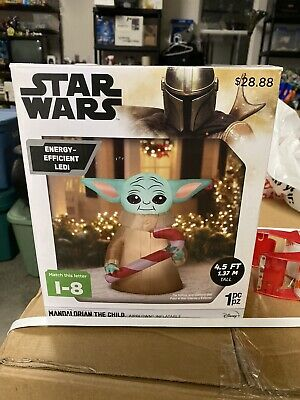 Star Wars MANDALORIAN THE CHILD Baby Yoda Airblown 4.5 ft ChristmasInflatable