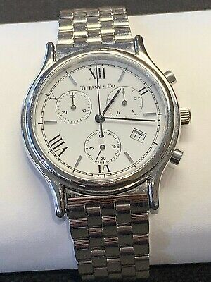 Tiffany & Co.Chronograph Quartz Stainless Steel Watch Excellent