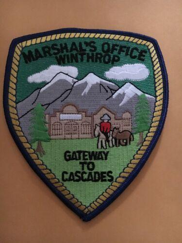 Marshals Office Winthrop Washington Police patch