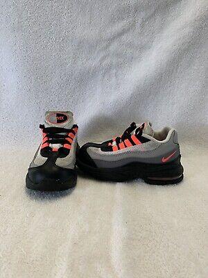 Nike Air Max 95 Infant/Toddler Girls Black/pink/grey Shoes--size 8 C