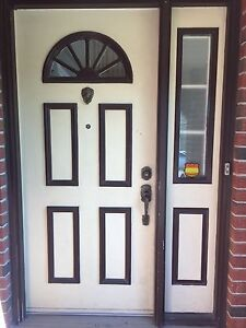 Entry door and sidelite
