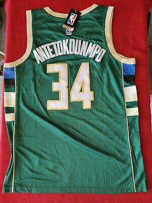 NBA Men's Jersey; MILWAUKEE BUCKS - GIANNIS ANTETOKOUNMPO size L