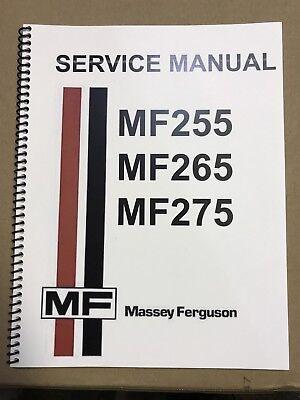 255 Massey Ferguson Tractor Technical Service Shop Repair Manual Mf255
