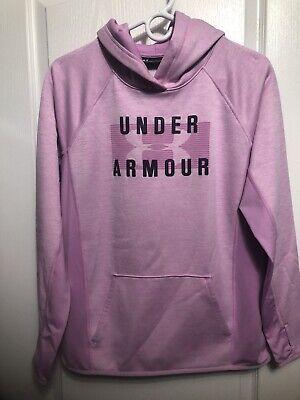Under Armour Womens Hoodie Medium M Pink Pullover Hooded Sweatshirt Sweat Shirt